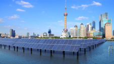 Pictured: Solar infrastructure in Shanghai