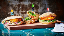 Image: Nando's, picturing some of the chain's plant-based menu items