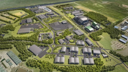 An artist's impression of the plant. Image: Peel Environmental