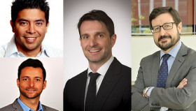 From top left: Juan Miguel Pinto, Energy Recovery Inc, Guillaume Clairet, H20 Innovation, Renato Ramos, Dow Water & Process Solutions, and Miguel Angel Sanz, Suez