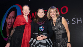 (L-R) Presenter Liz Goodwin OBE, Director of food loss &