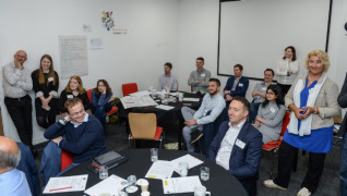 A group of energy managers were shown 'the elephant in the room' at the Design Sprint in Birmingham