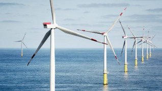 Wind alone accounted for 18% of Britain's electricity mix between January and May. Image: Ørsted's Walney wind farm