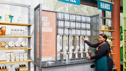 The refill station will open to the general public on Saturday (21 September). Image: OneGreenBean/The Body Shop