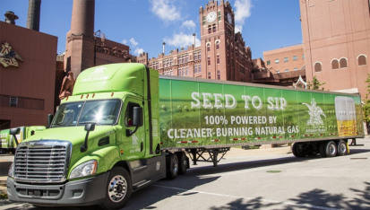 In 2014 and 2015, the company converted 160 diesel trucks in Houston and St. Louis to CNG engines.
